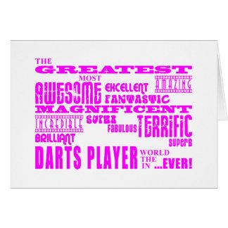 Girls Darts Players : Pink Greatest Darts Player Card