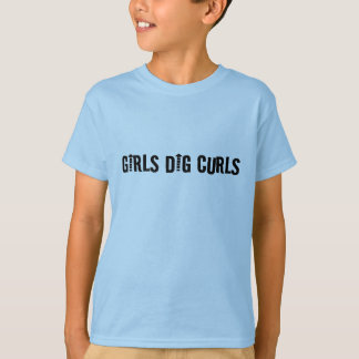 Girls Dig Curls Funny Curly-Haired Man or Boy's Shirts