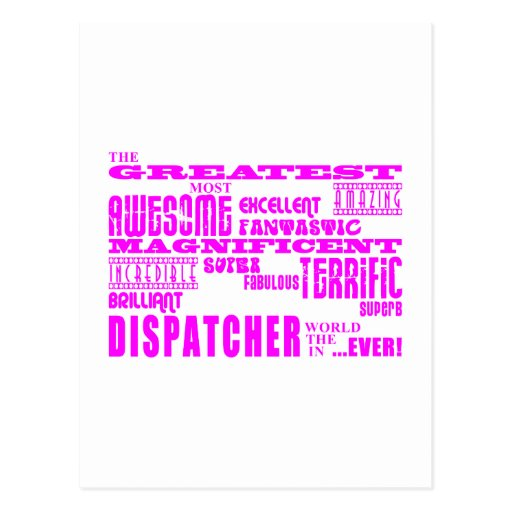 Girls Dispatchers : Pink Greatest Dispatcher Postcards