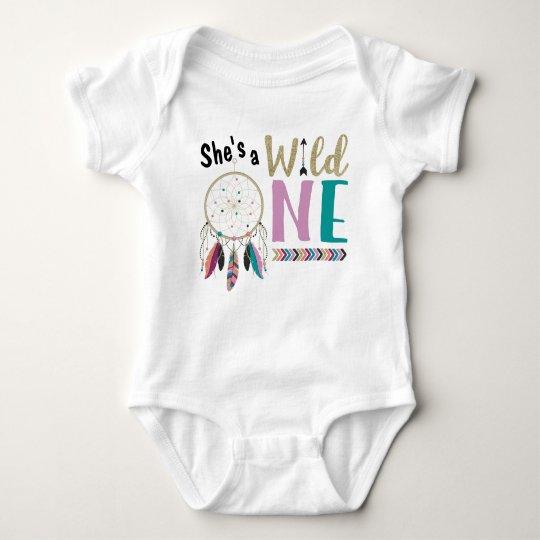 Girls Dreamcatcher Wild ONE 1st Birthday Outfit Baby