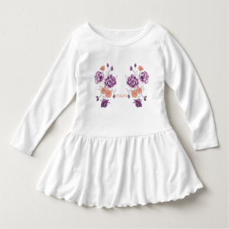 Girls dress flowers peachy