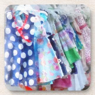 Girl's Dresses at Street Fair Beverage Coasters