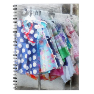 Girl's Dresses at Street Fair Spiral Notebooks