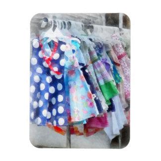 Girl's Dresses at Street Fair Vinyl Magnet