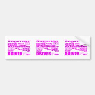 Girls Drivers : Pink Greatest Driver Bumper Sticker