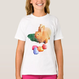 "Girl's ""EASTER BUNNY"" T-shirt (White)"