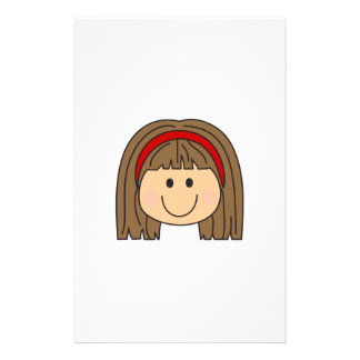GIRLS FACE PERSONALIZED STATIONERY
