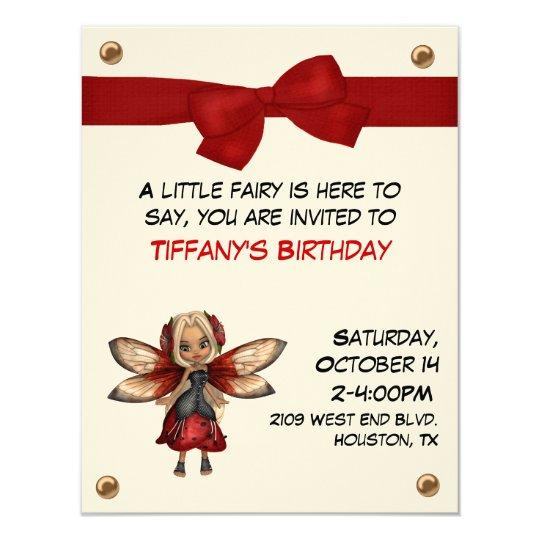 Girl's Fairy Party Invitation