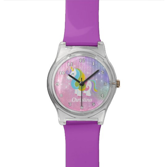Girls Fantasy Unicorn add name watch