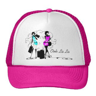 Girls fashion models chic couture cap