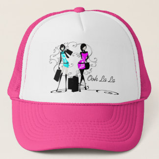 Girls fashion models chic couture trucker hat