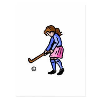 Girls Field Hockey Postcard