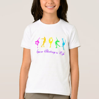 Girls Figure Skating is Life - Pastel Rainbow T-shirt
