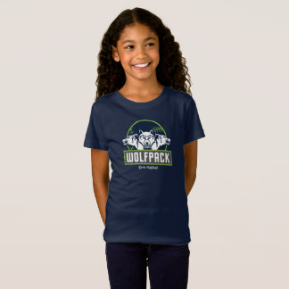 Girls' Fine Jersey Blue WolfPack T-Shirt
