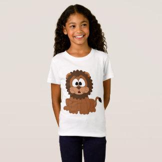 Girls' Fine Jersey Happy Lion T-Shirt