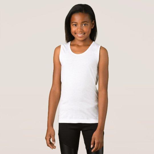 Girls' Fine Jersey Tank Top, White
