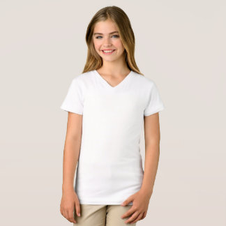 Girls' Fine Jersey V-Neck T-Shirt