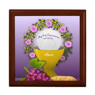 Girls First Communion Holy Eucharist Memory Box