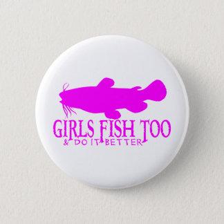 GIRLS FISH TOO CATFISH 6 CM ROUND BADGE