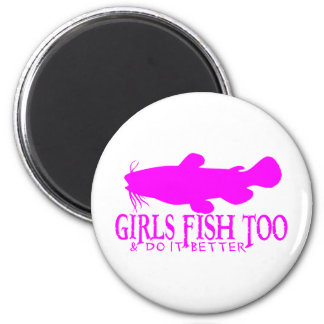 GIRLS FISH TOO CATFISH REFRIGERATOR MAGNET