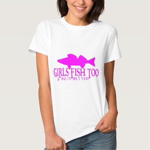 GIRLS FISH TOO WALLEYE SHIRTS