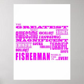 Girls Fishermen : Pink Greatest Fisherman Poster