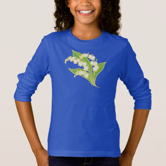 Girls Fleece Hoodie: Lily of the Valley T-Shirt