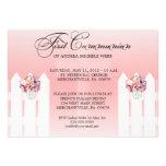 Girl's Floral Mason Jar First Communion Invitation