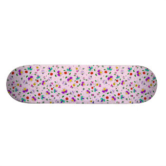 Girls Floral Pattern Pink Skateboard