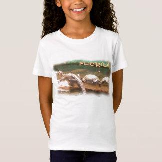 Girls Florida turtle gator shirt