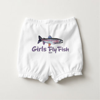 Girls Fly Fish too! Rainbow Trout Fly Fishing Nappy Cover