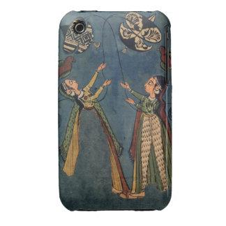 Girls flying kites, Kulu folk painting, Himachal P iPhone 3 Covers