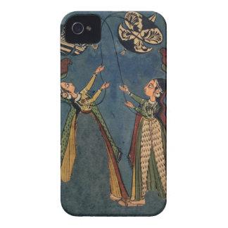 Girls flying kites, Kulu folk painting, Himachal P iPhone 4 Cover