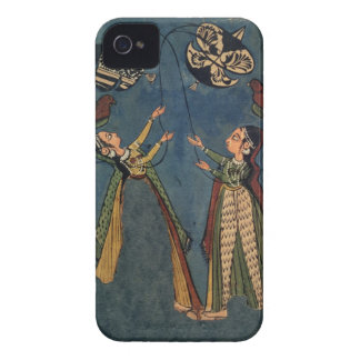 Girls flying kites, Kulu folk painting, Himachal P iPhone 4 Covers