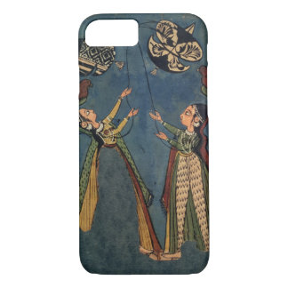 Girls flying kites, Kulu folk painting, Himachal P iPhone 8/7 Case