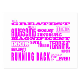 Girls Football : Pink Greatest Running Back Postcard
