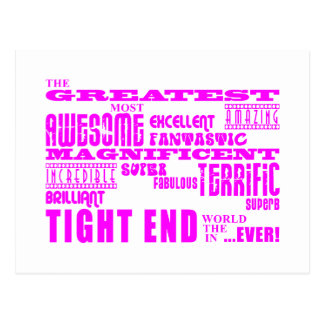 Girls Football : Pink Greatest Tight End Postcard