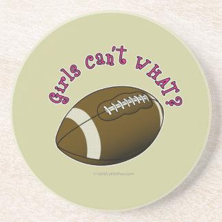 Girls Football - Pink Text Beverage Coaster