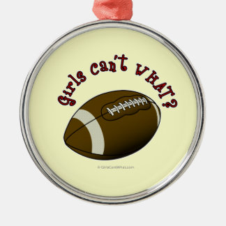 Girls Football - Red Christmas Ornaments