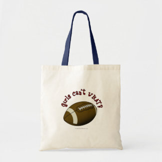 Girls Football - Red Tote Bag