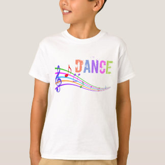 Girls fun Dance music notes t-shirt