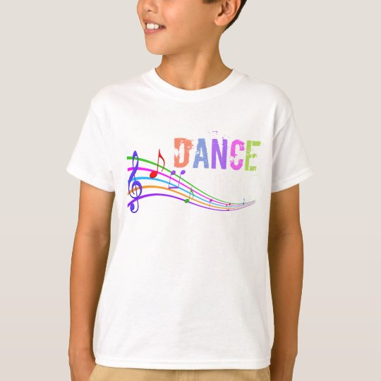 Girls fun Dance music notes t-shirt