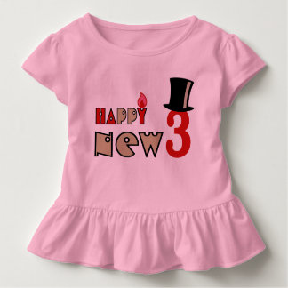 girl's funny 3 year tshirt HQH