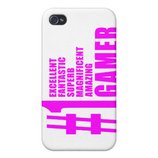 Girls Gaming Gamers Pink Number One Gamer iPhone 4/4S Cover