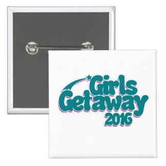 Girls getaway 2016 15 cm square badge
