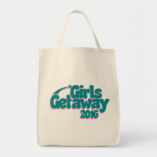 Girls getaway 2016 grocery tote bag