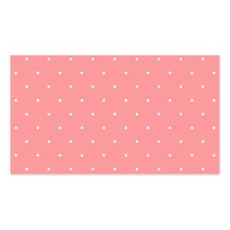 Girls Gift Coral Pink and White Dots Business Card Template