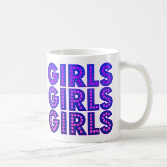 Girls Girls Girls Graphic Coffee Mug