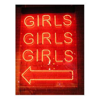 Girls Girls Girls Postcard