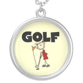 Girls GOLF Silver Plated Necklace